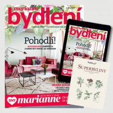 Roční kombinované předplatné Marianne bydlení + Kniha Superbyliny