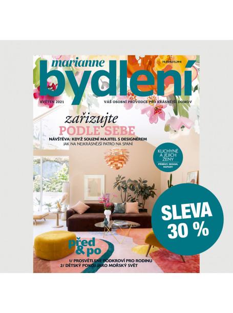 Roční tištěné předplatné Marianne Bydlení  se slevou 30 %